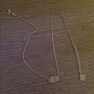 Kendra Scott Platinum druzy necklace!